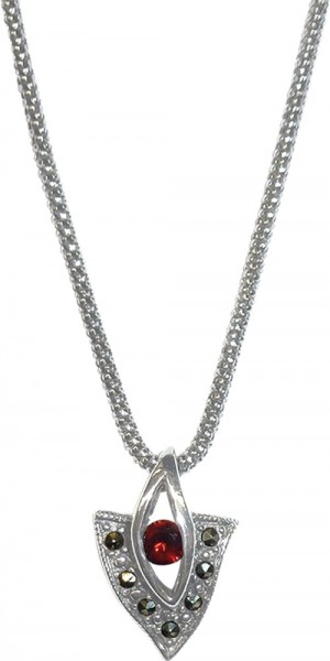 Modisches Collier in Silber Sterlingsilb...