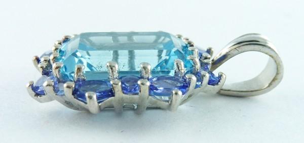 Anhänger Silber Sterlingsilber 17 Blautopase