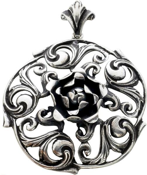 Antiker Blüten Anhänger Silber 835/- T...
