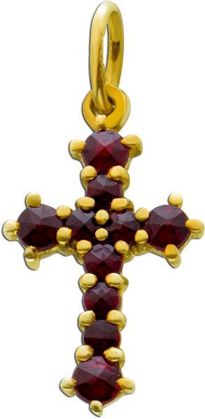 Antiker Granat Anhänger roten böhmischen Granaten Silber 925 Edelsteinschmuck um 1900