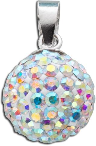 Kettenanhänger Kristall Kugel Silber 92...