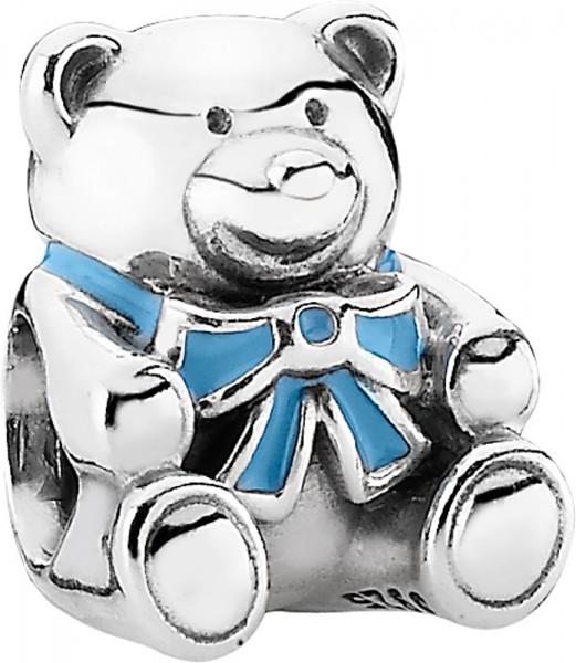 PANDORA Charm 791124EN41 Teddybär blau Silber