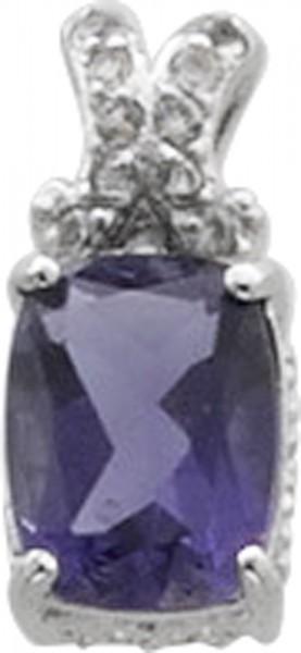 Anhänger in Silber Sterlingsilber 925/-, blauer Iolith  weisse Topase