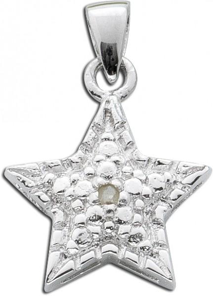 Diamanten Anhänger weiss Silber 925 Dia...