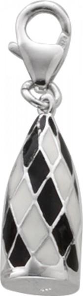 Swiss Re Tower London Einhänger in Silber Sterlingsilber 925/-, weiss schwarz lackiert