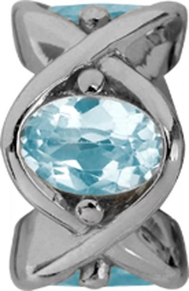 Endless Jewerly 21550Charm Sky Topas Heaven inSilber Sterlingsilber 925/- miteinem ovalem Blautopas