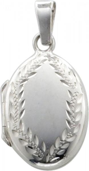 Medaillon in Silber Sterlingsilber 925/- mit verzierungen, masse 23x17mm, lg 4mm