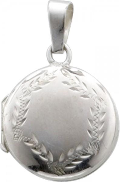 Medaillon in Silber Sterlingsilber 925/- mit Verzierungen, masase 20mm, lg 3,5mm
