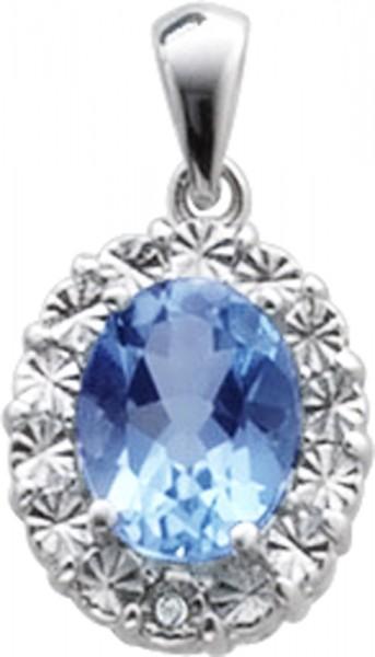 Silberanhänger – Sterling Silber 925/- mit Blautopas