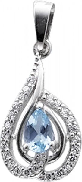 Silberanhänger – Anhänger Sterling Silber 925 mit Blautopas