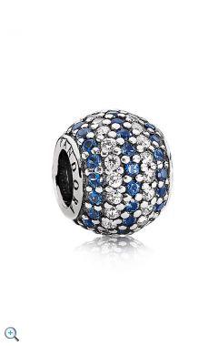 PANDORA 791172NCB mit blauen und weissen Zirkonia