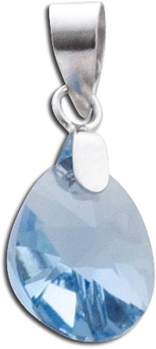 Anhänger 925er Sterling Silber Swarovski Element blau