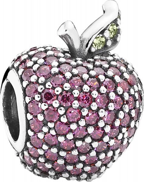 PANDORA Charm 791485CFR Glänzend roter Apfel Silber Sterlingsilber Zirkonia