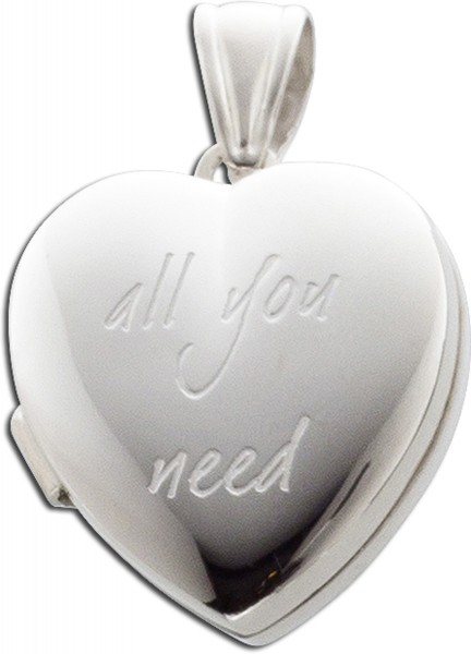 Anhänger Sterling Silber 925 Herz Medai...