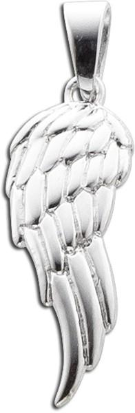 Flügelanhänger Sterling Silber 925 Eng...