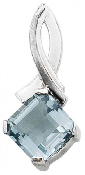 Edelsteinanhänger – Silberanhänger Sterling Silber 925 Blautopas