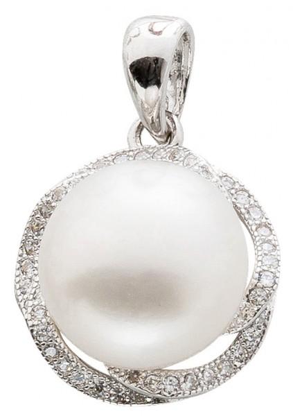 Perlen Anhänger Silber 925 Süßwasserz...