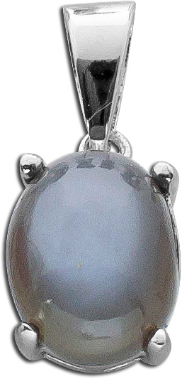 Anhänger Sterling Silber 925 rhodiniert T-Y schwarzer Mondstein