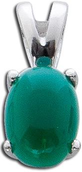 Anhänger Sterling Silber 925 rhodiniert grüner Achat