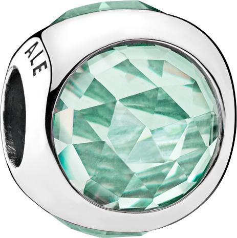 PANDORA Charms 792095NIC Strahlendes Tröpfchen eisgrün Silber 925