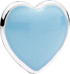 Pandora Medaillon Element 792169EN41 Sterling Silber 925 Herz blaue Emaille