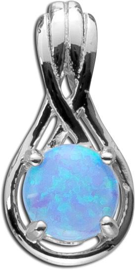 Opal Anhänger blauer Silber 925  Opal s...