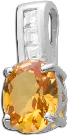 Citrin Anhänge gelb oranger  Silber 925...