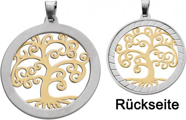Lebensbaum Anhänger Silber 925 vergolde...