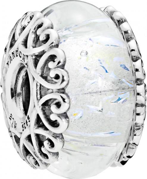 PANDORA Charm 797617 Iridescent White Gl...