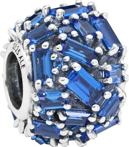 PANDORA SALE Charm 797746NSBL Chiselled Elegance Sterling Silber 925 baguette Kristalle