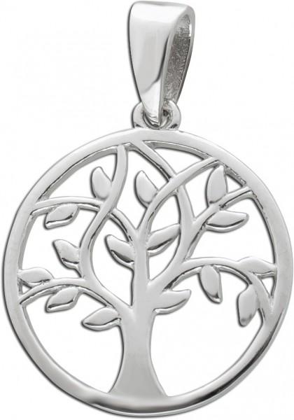 Runder Lebensbaum Anhänger Silber 925 D...