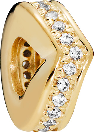 PANDORA SALE Shine Charm 767808CZ  Shimmering Wish klare Zirkonia Silber 925 vergoldet 18kt Spacer
