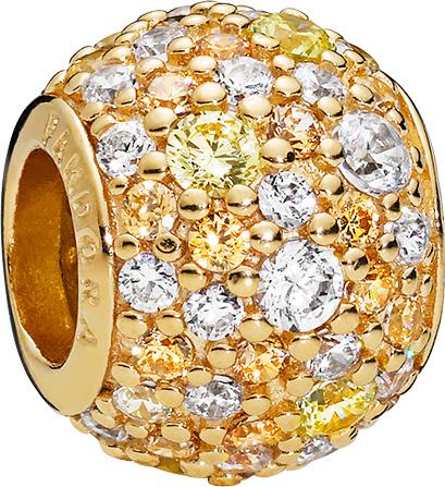 PANDORA Shine Charm 768646c01 Golden Mix Pave Ball Zirkonia Silber 925 vergoldet 18kt
