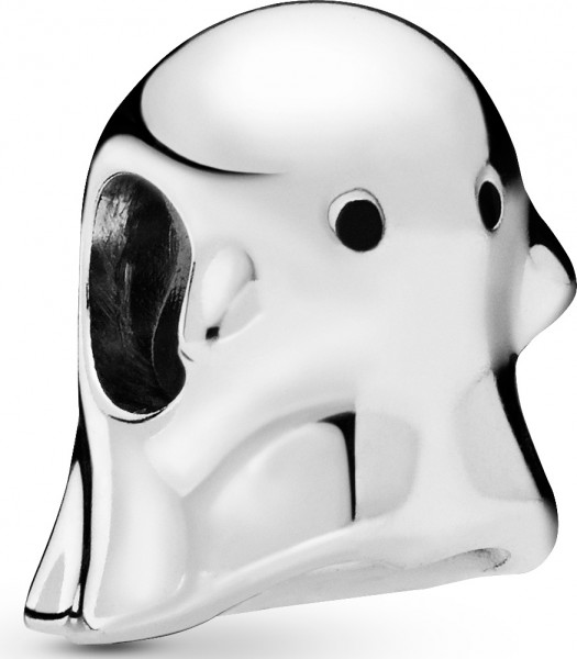 PANDORA SALE Charm 798340EN16 Boo the Ghost Sterling Silber schwarze Emaille