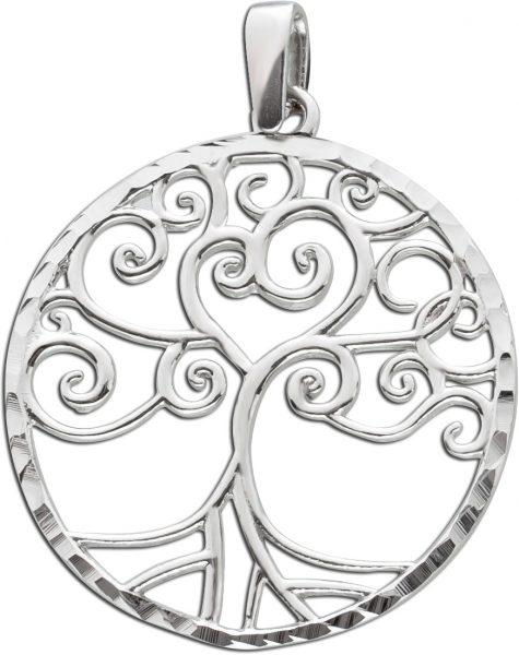 Lebensbaum Halsketten Anhänger Sterling Silber 925 Lebensbaumschmuck