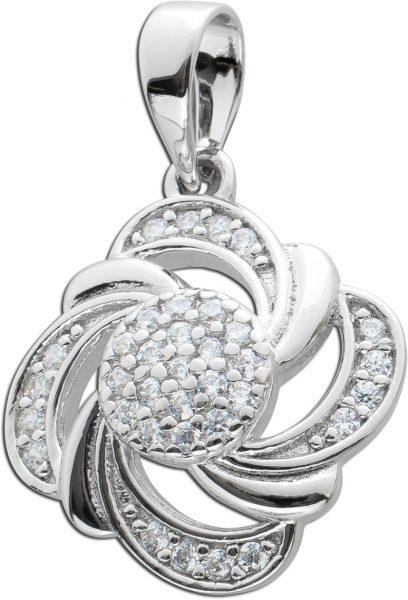 Zirkonia Anhänger Silber 925 Damen Anhänger