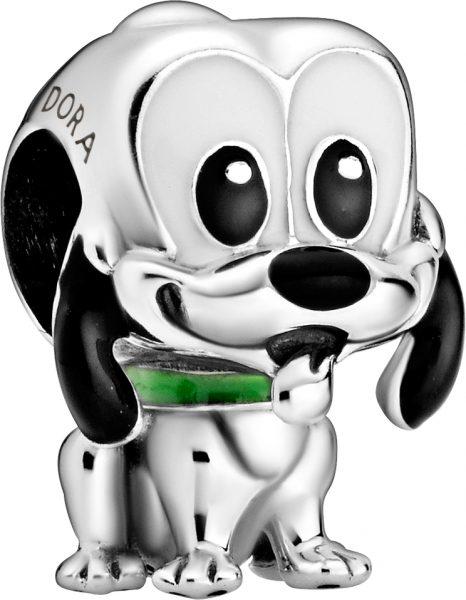 Pandora Disney Charm 798853C01 Disney Pluto Silber 925 Schwarz Grün Emaille