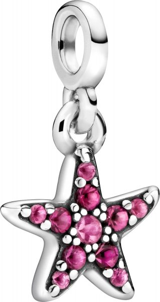 Pandora Me Charm Anhänger 799011C01 My Pink Starfish Silber 925 Pinke Synthetische Saphire