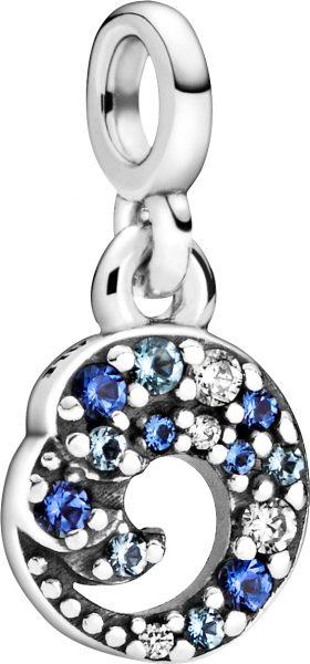 Pandora Me Charm Anhänger 799010C01 My Blue Ocean Wave Silber 925 Klare Zirkonia Blaue Kristalle