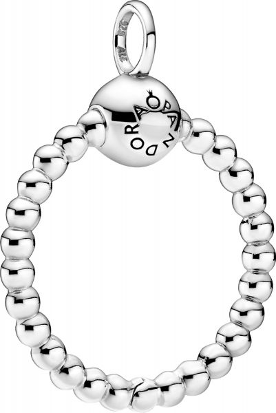 Pandora Purely Anhänger 399077C00 Pandora Moments Beaded O Pendant Small Silber 925