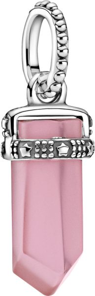 Pandora Colours Pendent Only Anhänger 399185C02 Pink Amulet Silber 925  Rosa Kristall