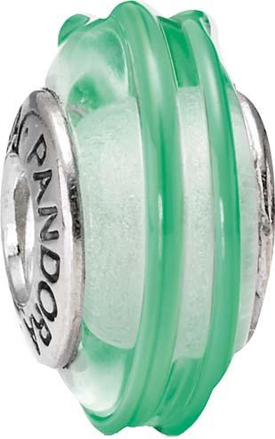 PANDORA Charms Muranoglas Element  Modellnummer: 790606 Glamouröses Schmuckstück, aus echtem Silber Sterlingsilber 925/-. Maße ca. 15,4mm x 8,1mm. Farben: mit grün-türkisem Muster In Premiumqualität von Deutschlands größtem und günstigstem Schmuckverkäufe