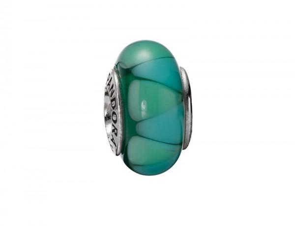 PANDORA Beads Muranoglas Element  Modellnummer: 790636 Fantastischer Look aus echtem Silber Sterlingsilber 925/-. Maße ca. 15,2mm x 8,8mm. Farben: mit hell- & dunkelgrünem Muster In Premiumqualität von Deutschlands größtem und günstigstem Schmuckverkäufer