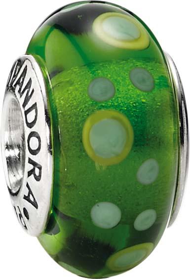 PANDORA Charms Muranoglas Element  Modellnummer: 790696 Exklusives Design von PANDORA, aus echtem Silber Sterlingsilber 925/-. Maße ca. 14,3mm x 8,4mm. Farben: mit grünem Muster In Premiumqualität von Deutschlands größtem und günstigstem Schmuckverkäufer.