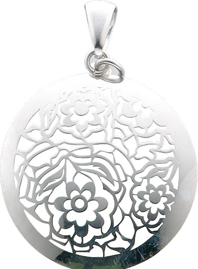 Blumen Anhänger Sterling Silber 925 Bl�...