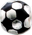 Bead Fussball aus echtem Silber Sterling...