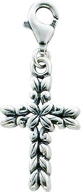 Charmanhänger  Kreuz aus echtem Silber ...