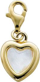 Anhänger Charm Herz aus echtem Silber S...