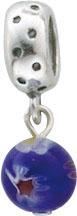 Beadanhänger  blaue Glasperle aus echtem Silber Sterlingsilber 925/-. Zu einem Schnäppchenpreis von Deutschlands größdem Lieferanten Abramowicz, aus Stuttgart