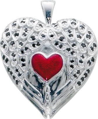 Anhänger Herz im Herz aus echtem Silber...